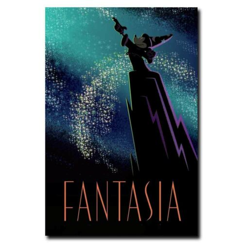 Fantasia 20x30//24x36inch Classic Disney Cartoon Silk Poster Art Print Cool Gifts