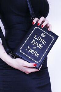 LITTLE-BOOK-OF-SPELLS-Magic-Witch-Craft-Pagan-Rock-Goth-Black-Handbag-Book-Bag