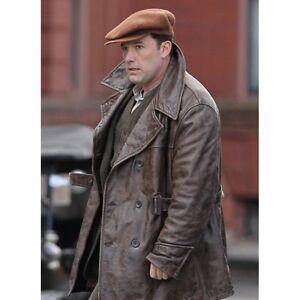 Vintage Leather Jacket >> Men S Live By Night Ben Affleck Distressed Brown Vintage Leather