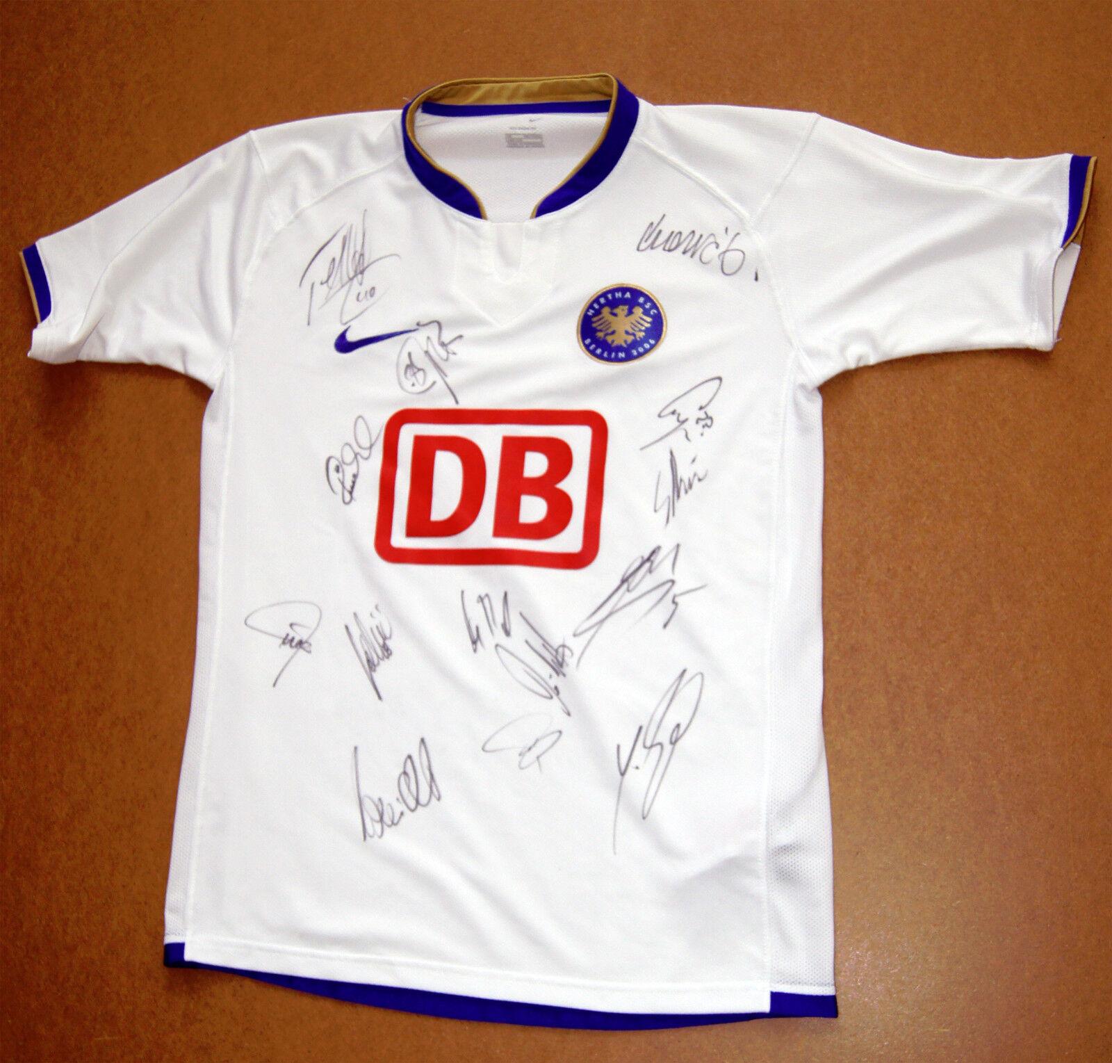 Trikot Jersey Hertha BSC 31 Autogramme Boateng football shirt P1-46