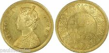 1862 (C) EMPRESS OF INDIA VICTORIA MINT STATE GOLD MOHUR PCGS MS62