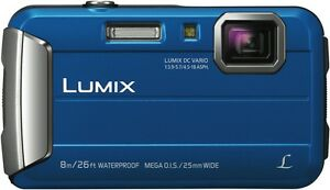 NEW Panasonic DMC-FT30GN-A Lumix FT30 Digital Camera Blue
