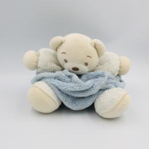 Doudou ours plume bleu blanc KALOO - Ours Classique
