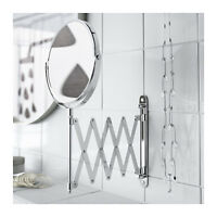 Ikea Fräck Mirror, Stainless Steel , One Side With Magnifying Mirror