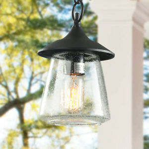 Details About 1 Light Outdoor Hanging Lights Traditional Porch Patio Pendant Lighting