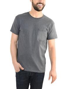 054b19b8 Fruit of the Loom Platinum Eversoft Men's Short Sleeve Crew T Shirt ...