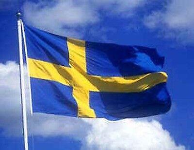 UEFA EURO 2016 FRANCE SWEDEN SWEDISH SVENSK FLAGG SVERIGE FLAG
