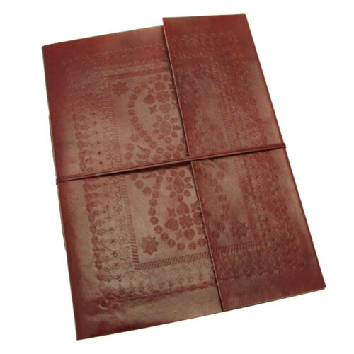 Fair Trade Handmade Embossed Leather Photo Album Eco Friendly Scrapbook