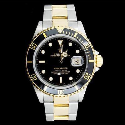 9. Rolex Submariner 18K & Stainless Steel Watch Lot 9