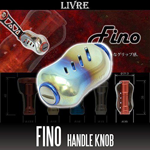 LIVRE Fino Titanium Handle Knob 1 piece FIRE   Blau