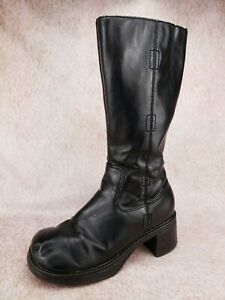 Vtg 90s CANDIE'S Black Chunky Heel