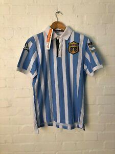 Comerciante Cubo Cúal  Kappa Argentina Football Men's 1978 Polo Shirt - Medium - Blue/White - New  | eBay