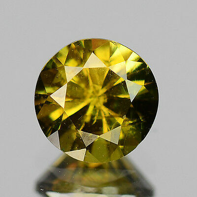AMAZING GEM 0.66 CTS NATURAL CHAMPAGNE BROWN ANDALUSITE GEMSTONE ROUND