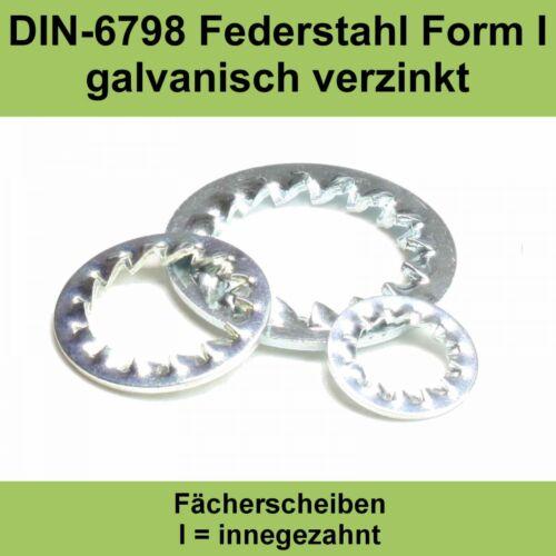 17,0 DIN 6798 verzinkte Fächerscheiben innengezahnte innenverzahnte Form I J M16