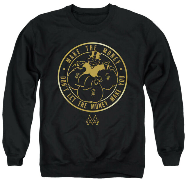 Monopoly Sweatshirt Make The Money Black Pullover