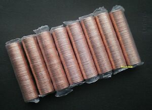 8-rolls-of-Canadian-pennies-MINT-SEALED-2002-P-2010-2011-2012-Unopened