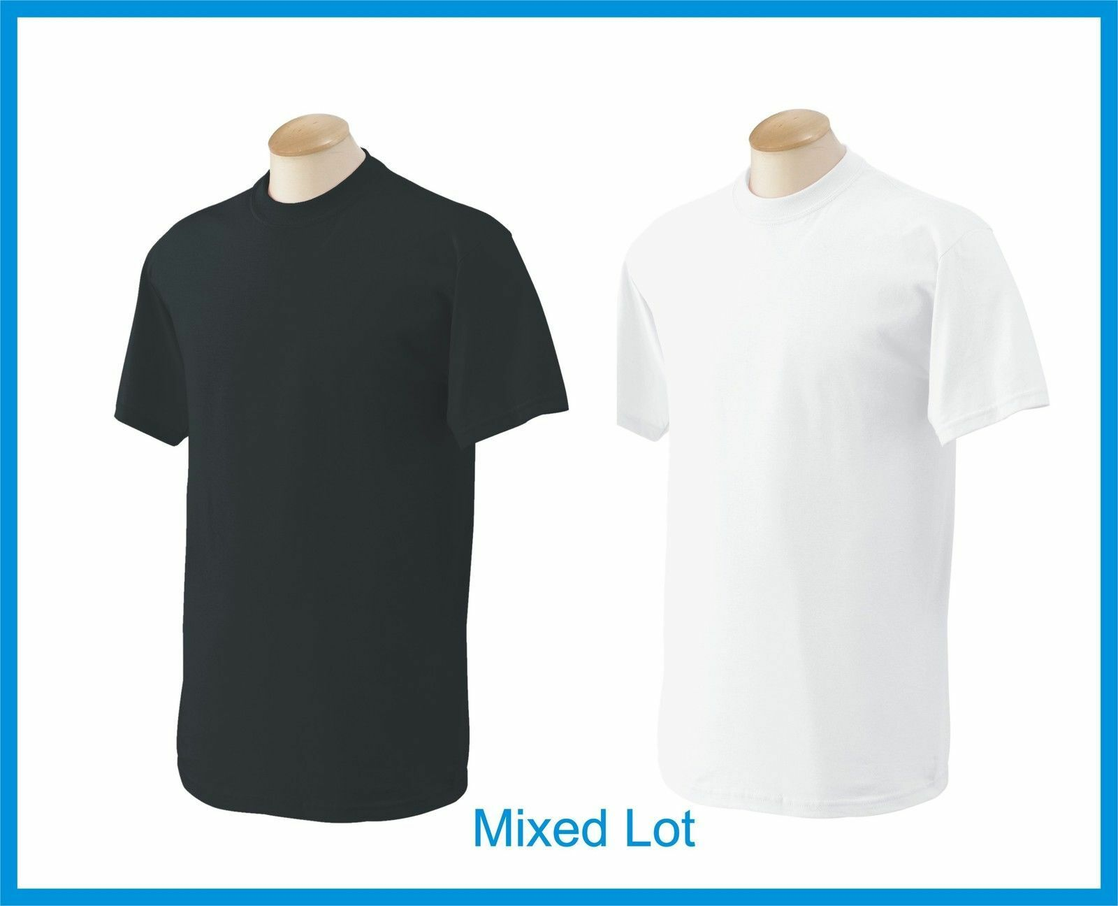 Black t shirt bulk - 50 T Shirts Blank 25 Black 25 White Bulk Lot S Xl