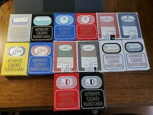 14-Decks-2-Colors-Playing-Cards-from-7-Las-Vegas-Casino-039-s-Used-in-Casino