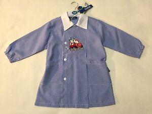 Grembiuli Asilo A Quadretti.Dettagli Su Grembiule Asilo Scuola Materna Bambino Bimbo Blu A Quadretti 2 4 Anni