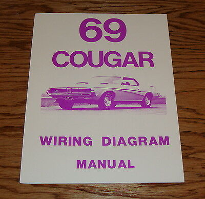 1969 Mercury Cougar Wiring Diagram Manual 69 | eBay