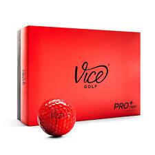 VICE Pro Plus Neon Red – Golfbälle - 12 Stück - Neu! Golfzubehör, Golfball, TOP