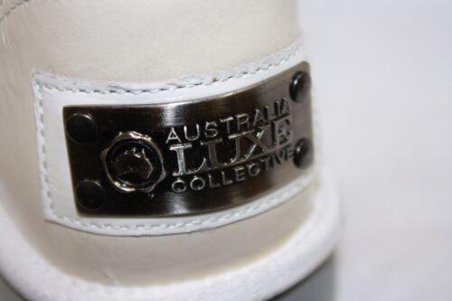 NEW Womens Size 6 AUSTRALIA LUXE Love EZ Zipper Short Patent White Boots