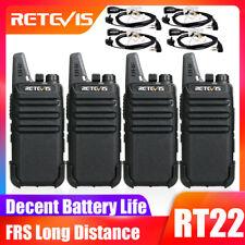 12XRetevis RT22 Walkie Talkies UHF400-480MHz 16CH VOX TOT CTCSS+12*Earpiece US