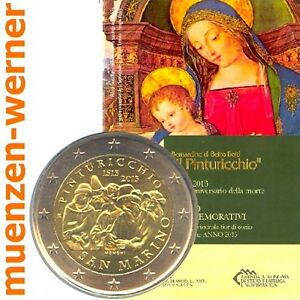 Sondermuenzen-San-Marino-2-Euro-Muenze-2013-Pinturicchio-Sondermuenze-Gedenkmuenze