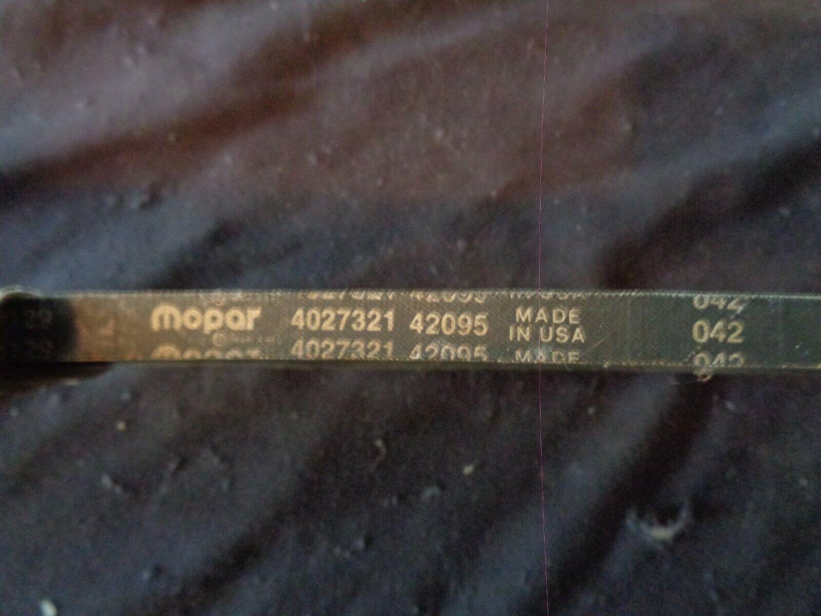 CHRYSLER 4027321 Replacement Belt
