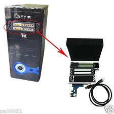 x1 x4 x8 x16 PCIe to PCI 2 Slots Adapter USB3.0 Connection Optical Drive Bay
