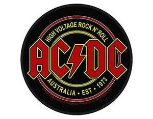 OFFICIAL-LICENSED-AC-DC-HIGH-VOLTAGE-AUSTRALIA-73-WOVEN-SEW-ON-PATCH-ROCK