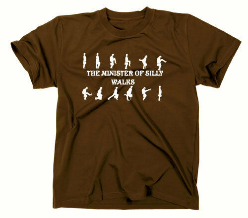 #2 Monty Python Fun T-Shirt Ministère de Idiot Walks Haut Fun Haut Fun Mini
