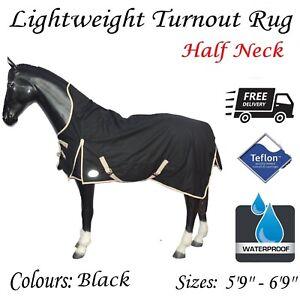 Lightweight HALF NECK turnout rug/rain