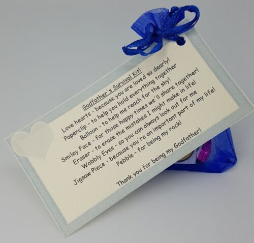 Godfather Survival Kit gift for godparents godmother gift Godfather gift