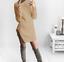 NEW-Women-Turtleneck-Winter-Split-Long-Sleeve-Sweater-Jumper-Knit-Bodycon-Dress thumbnail 3