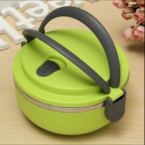 1 layers stainless steel thermal insulated lunch box bento food container handle. Black Bedroom Furniture Sets. Home Design Ideas