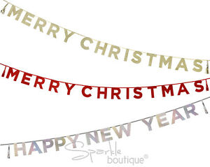 image is loading glitter bunting garland banner xmas new year party