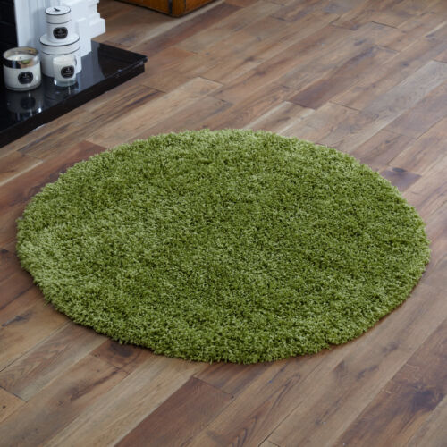 NEW MODERN THICK 5CM HIGH PILE X LARGE-LARGE-MEDIUM-SMALL LIME GREEN SHAGGY RUGS