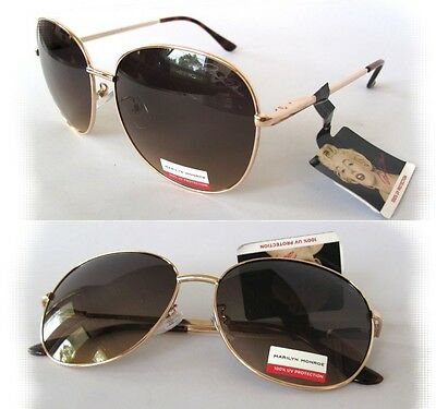 NWT Marilyn Monroe Womens Sunglasses 1067 Black-Gold//Purple $60.00