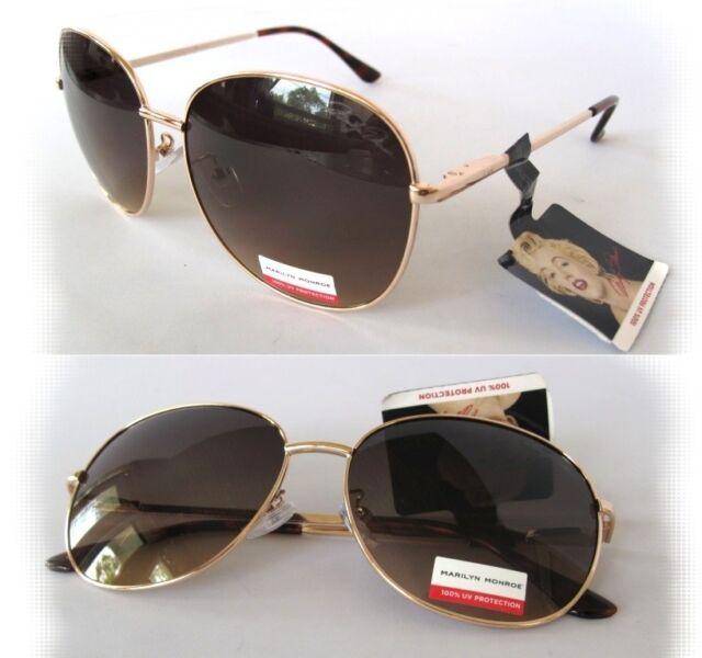 NWT Marilyn Monroe Womens Sunglasses M3021 Silver-Leopard//Purple $60.00