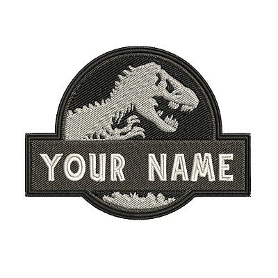 ADULT Custom Bear Embroidered Name Tag Patch IRON-ON YOUR NAME Wildlife Nature