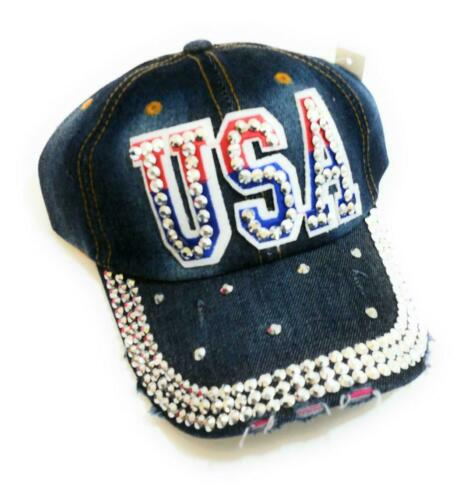 USA Flag Patriotic July 4th Star Baseball Cap Mens Womens Hat Red White Blue