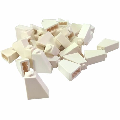 35 NEW LEGO Slope 65 2 x 1 x 2 BRICKS White