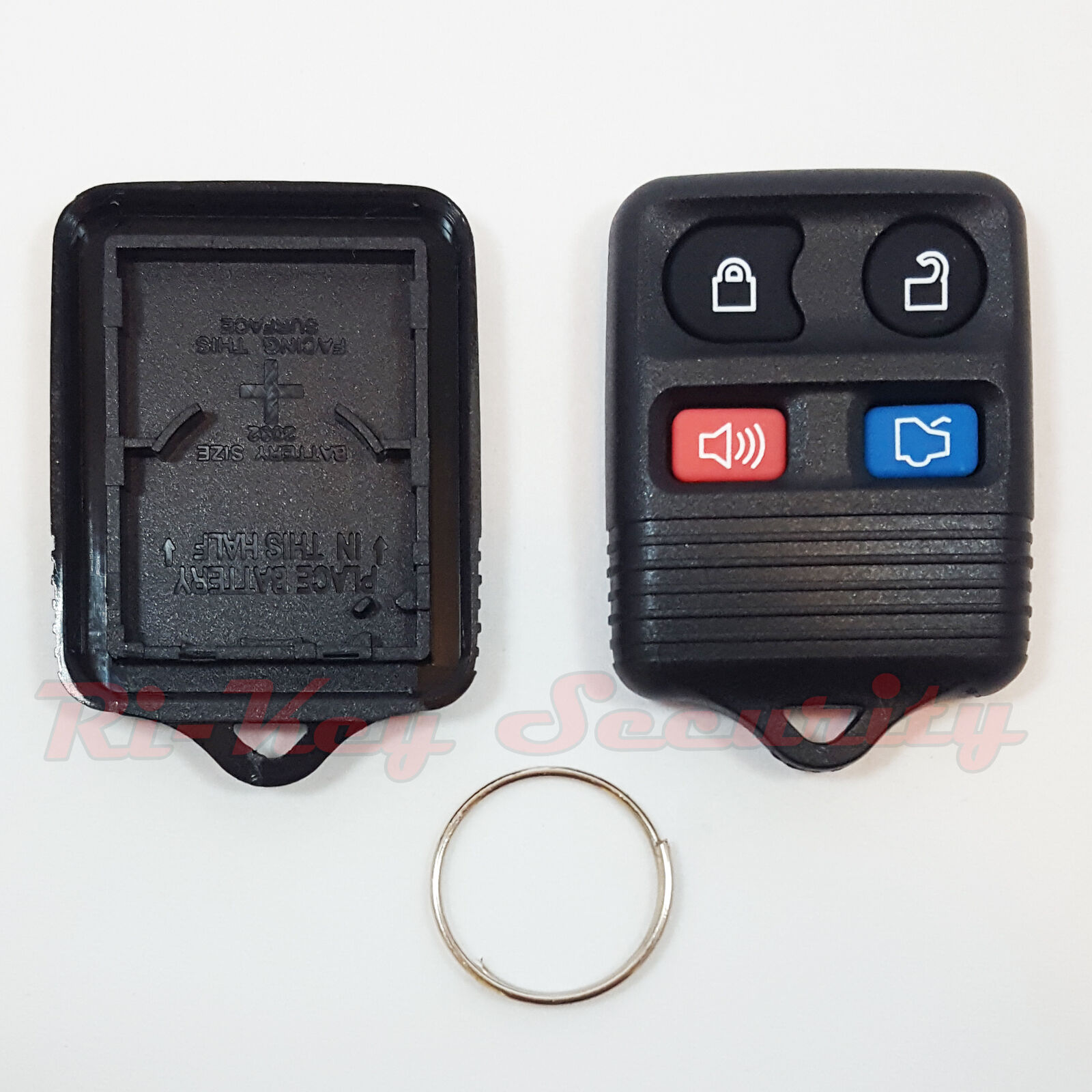 4 Button Keyless Entry Remote Fob Transmitter Click Beeper Case Fit For Fit Ford