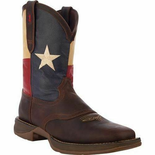 Durango Patriotic Pull-On Western Boots Texas Flag DB4446