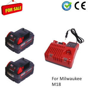 2x18V-5Ah-for-Milwaukee-batterie-M18B5-Red-Li18-48-11-1811-2-chargeur-M12-M18-FR
