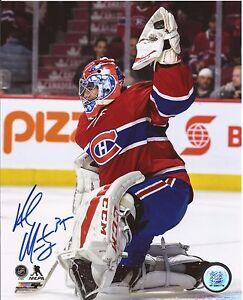 AL-MONTOYA-2017-Autograph-Picture-8x10-with-COA-HABS-Montreal-Canadiens-Goalie