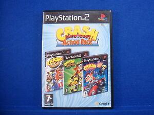 ps2-CRASH-BANDICOOT-3-Game-Action-Pack-Nitro-Kart-Tag-Team-Racing-Twinsanity-PAL