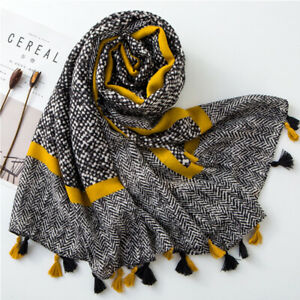 Women-Tassel-Viscose-Shawl-Scarf-Women-Wrap-Pashmina-Muslim-Hijab-Snood-CA-r-o