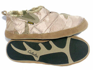 Cabela-039-s-Outfitter-Camo-MicroDown-Breathable-Warm-Cabin-Hunting-Slippers-Booties